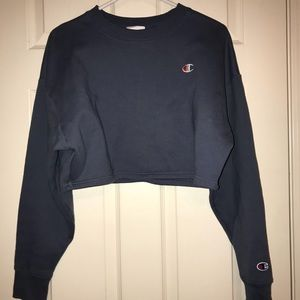 barely worn champion cropped sweater!